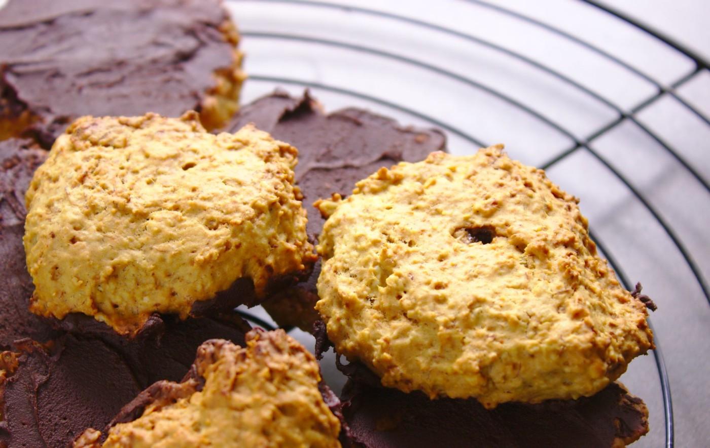Dietetyczne ciasteczka owsiane z olejem kokosowym