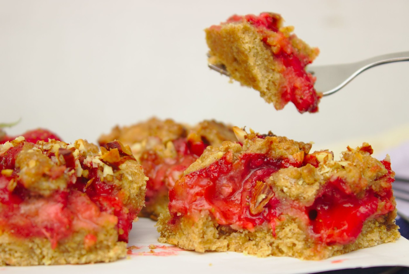 Pełnoziarniste ciasto z truskawkami
