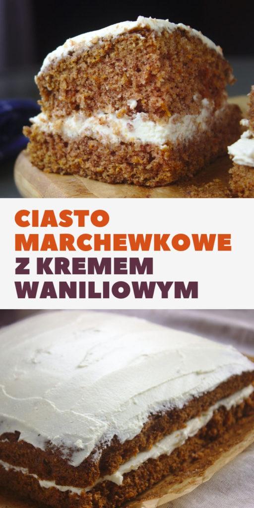 Ciasto marchewkowe z kremem waniliowym