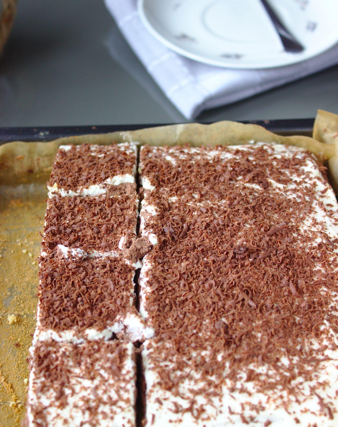 Sernik warstwowy o smaku lodow czekoladowych