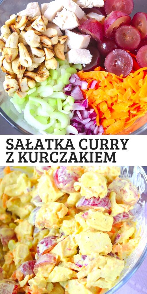Zdrowa sałatka z kurczakiem curry na imprezę