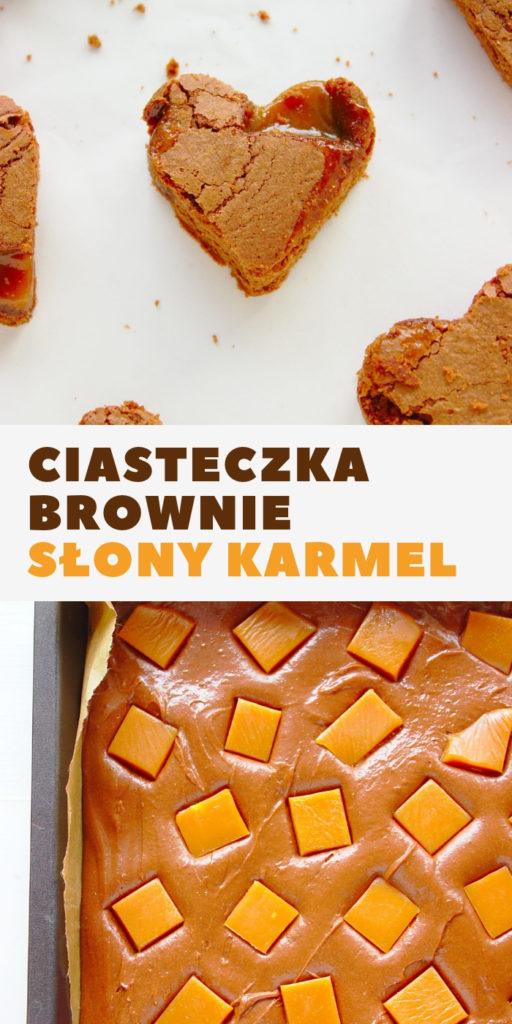 Czekoladowe ciasteczka brownie z solonym karmelem