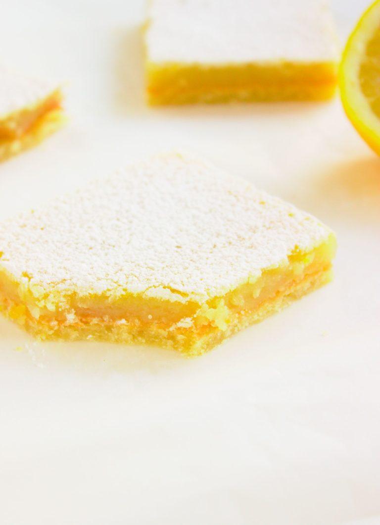 Ciasto cytrynowa kostka