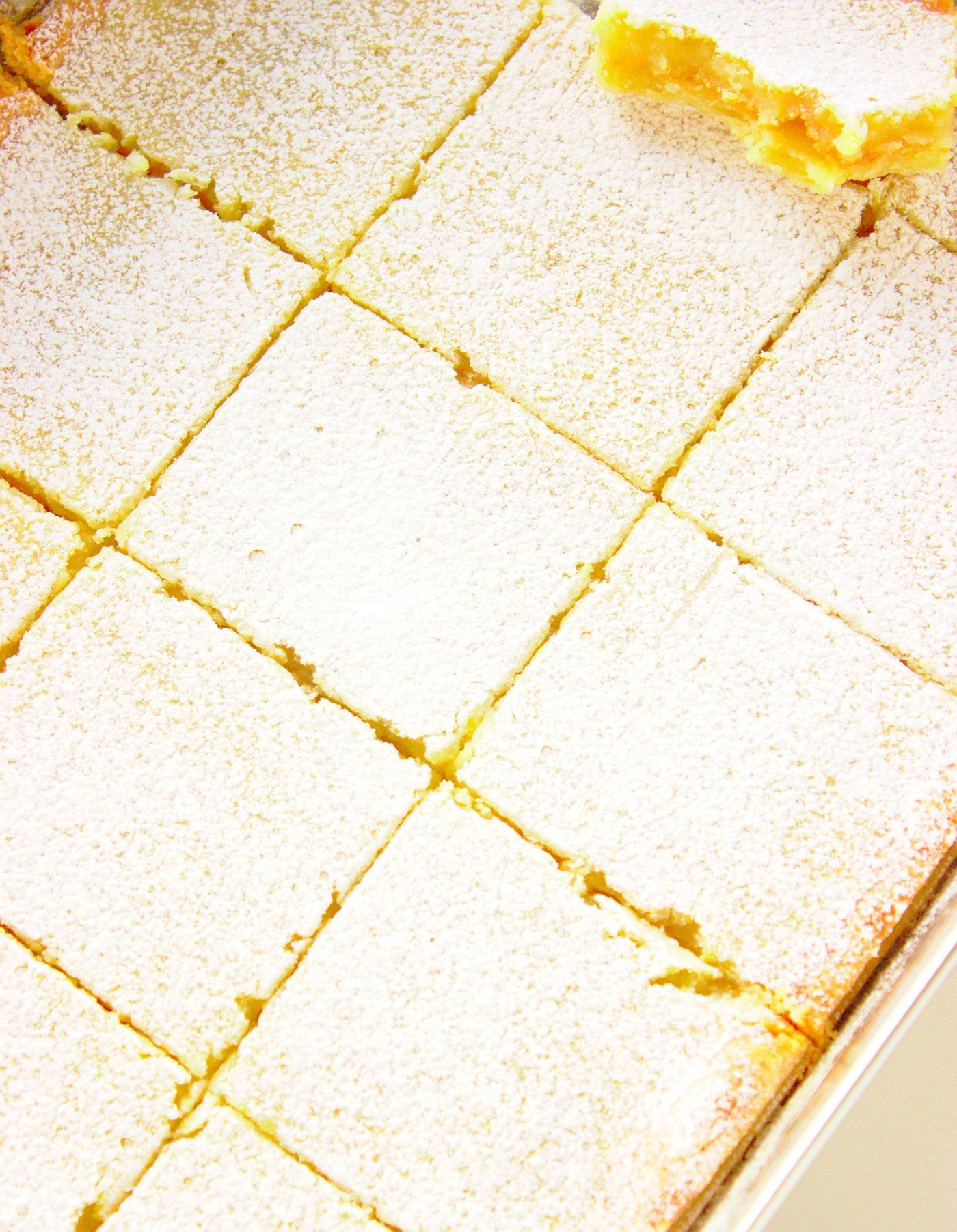 Ciasto cytrynowe cytrynowa kostka