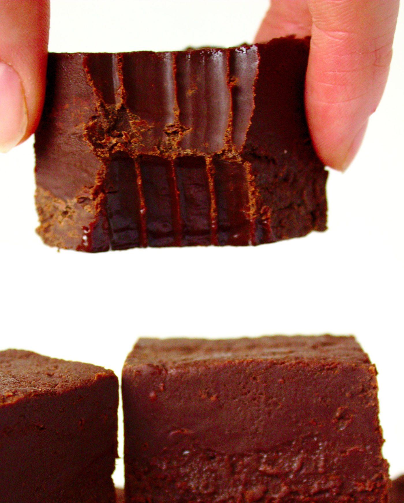 Czekoladowy fudge z 3 składników ciasto bez mąki