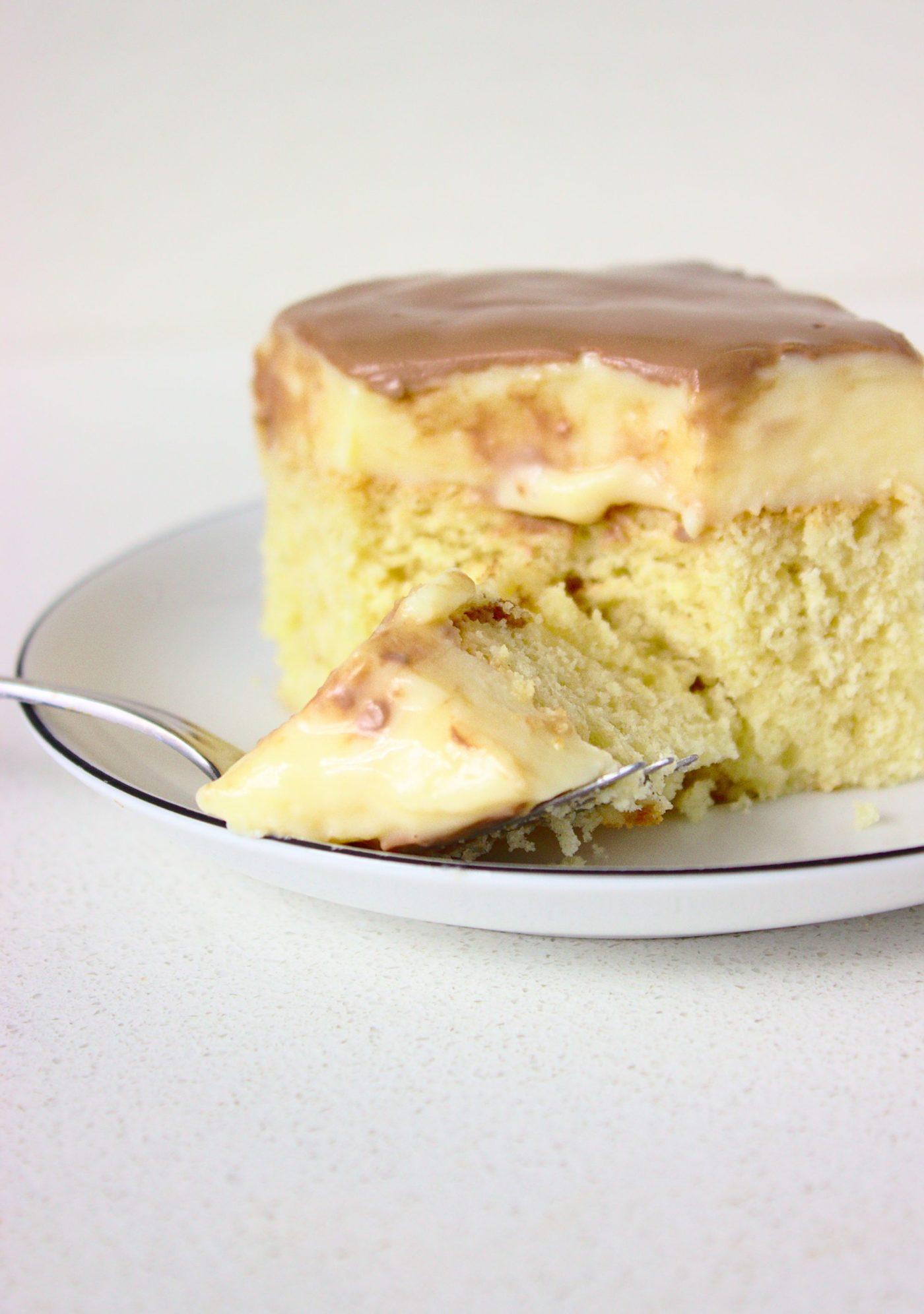 Szybkie ciasto Monte z budyniem i czekoladą