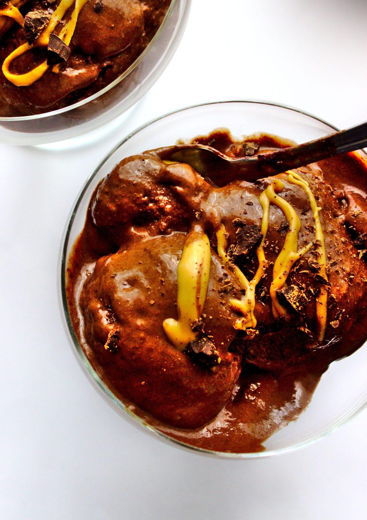 Fit lody bananowo czekoladowe