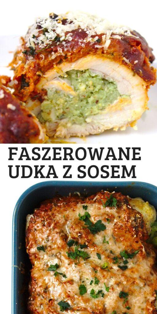 Faszerowane udka kurczaka w sosie