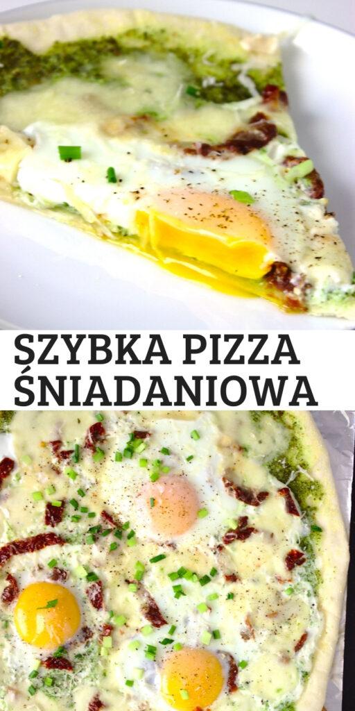 Szybka pizza śniadaniowa