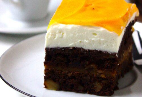 Wilgotne ciasto czekoladowe z persymoną czyli kaki