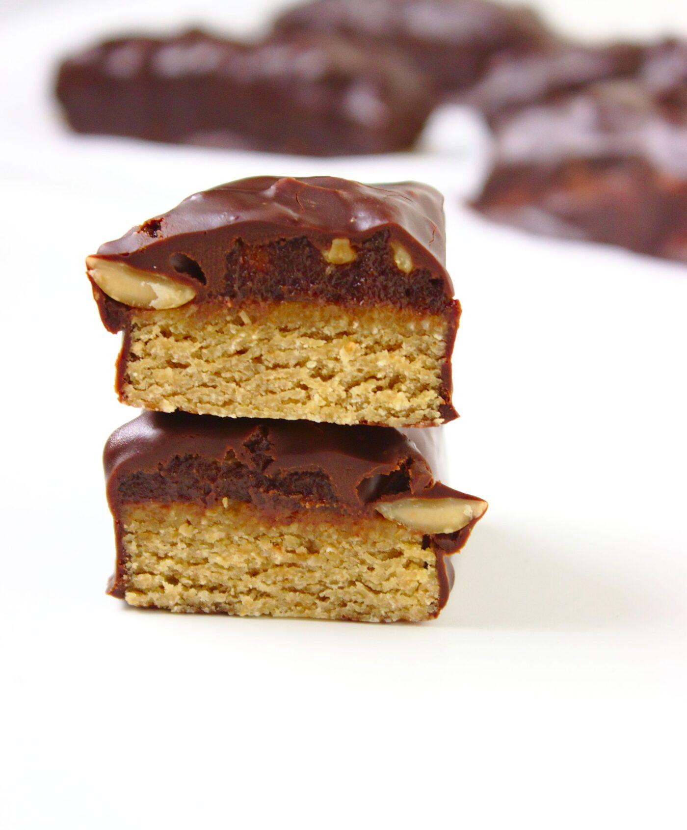 Domowe zdrowe fit batony snickers