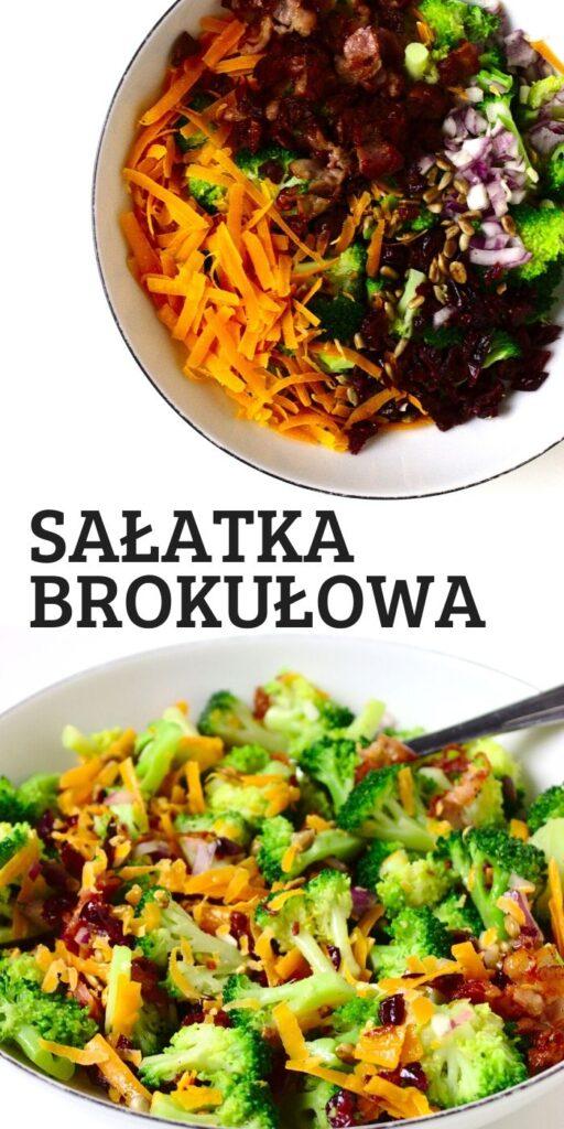 Zdrowa sałatka brokułowa