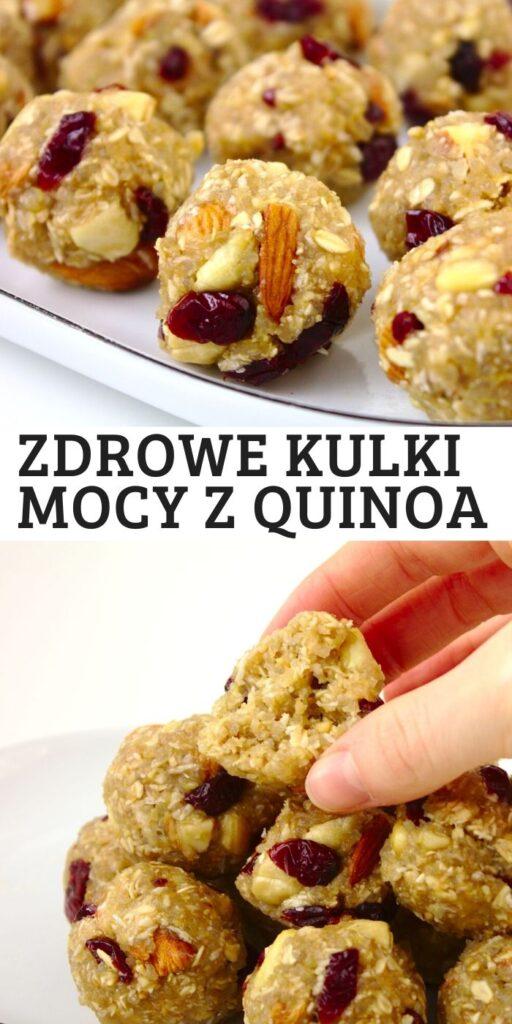 Zdrowe kulki mocy z komosa ryżowa - quinoa