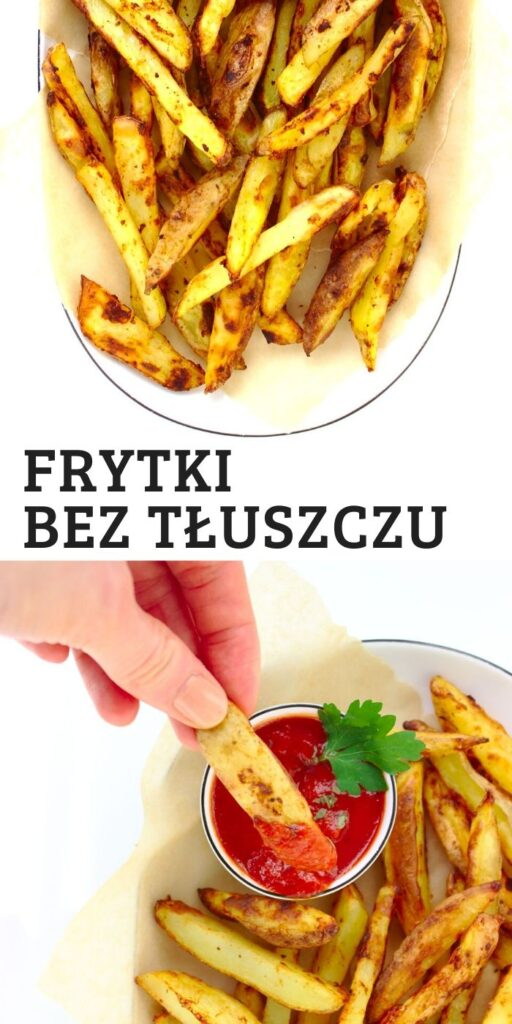Pieczone frytki serowe bez tłuszczu